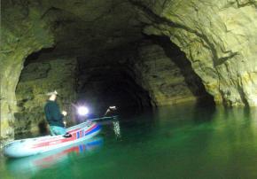 Navigation souterraine en carrière