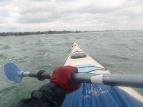 Kayak dans le golfe du Morbihan