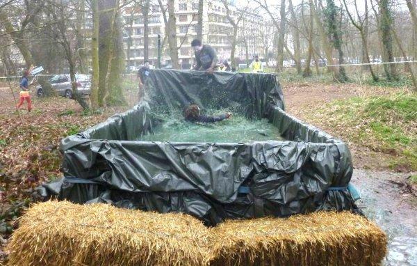 Obstacle SoMad - La benne à eau verte