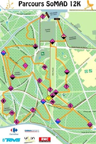 Le plan de la SoMad 12Km 2013 - www.so-mad.fr