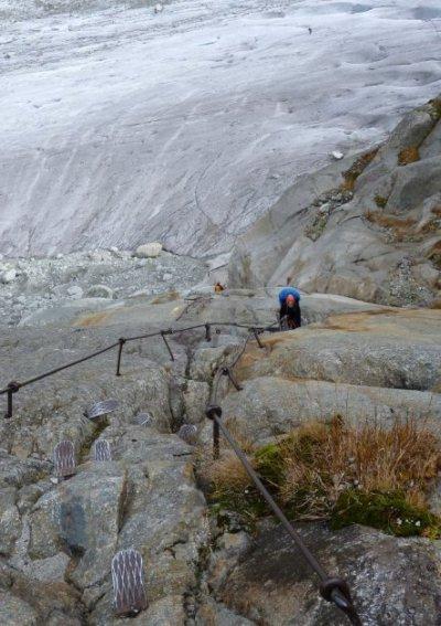 moulin mer de glace - échelles de l'envers