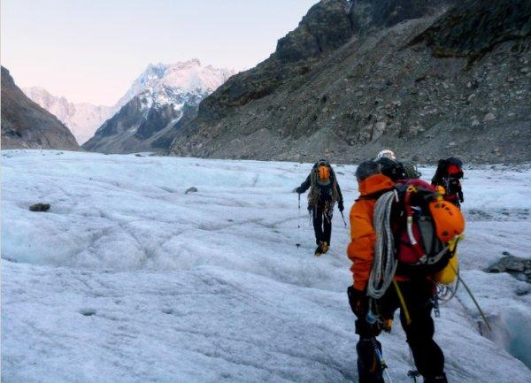 moulin mer de glace - randonnée glaciaire