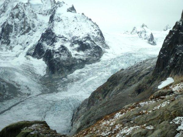 moulins mer de glace - le glacier