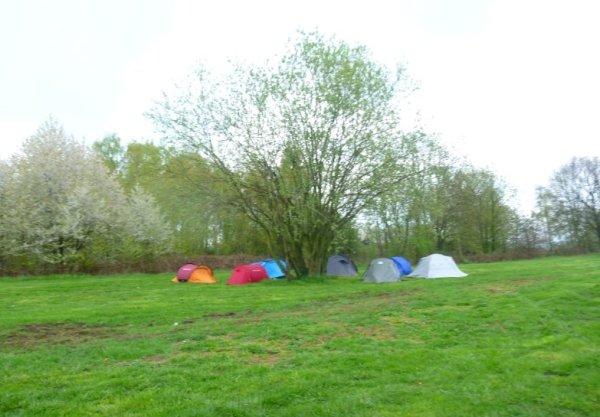 barchon parcours speleo - campement