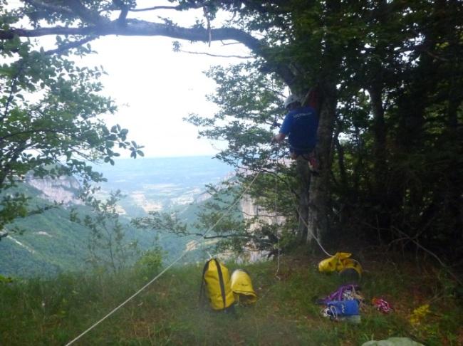 saventurer - trou du boeuf - depart falaise