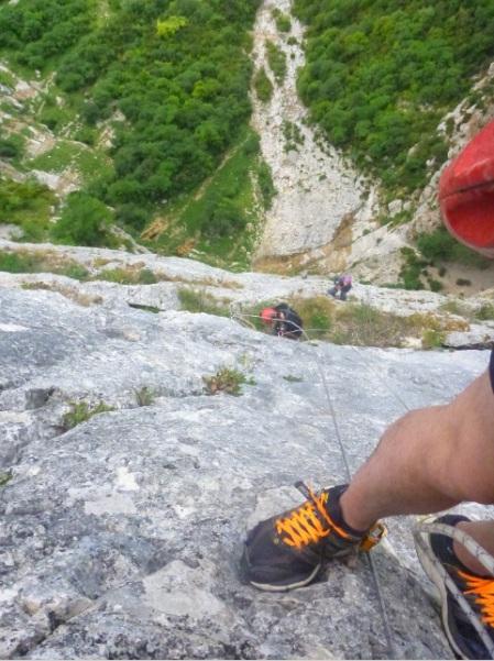 saventurer - trou du boeuf - descente falaise
