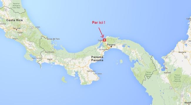 Le stage de survie jungle sur la carte, au Panama